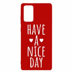 "Чохол для Samsung Note 20 Text: ""Have a nice day"""