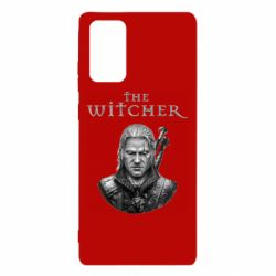 Чехол для Samsung Note 20 The witcher art black and gray