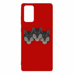 Чехол для Samsung Note 20 Three wolf heads