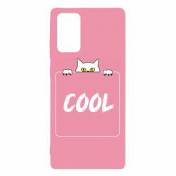 Чехол для Samsung Note 20 Top cat and the inscription cool