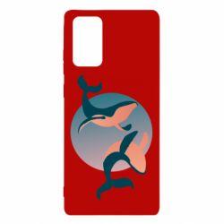 Чехол для Samsung Note 20 Two whales