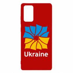Чехол для Samsung Note 20 Ukraine квадратний прапор