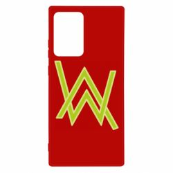 Чехол для Samsung Note 20 Ultra Alan Walker neon logo