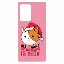 Чехол для Samsung Note 20 Ultra All i want for christmas is meow