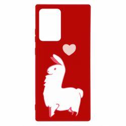 Чохол для Samsung Note 20 Ultra Alpaca with a heart