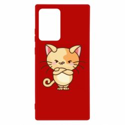 Чехол для Samsung Note 20 Ultra Angry red cat