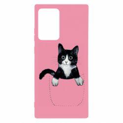 Чехол для Samsung Note 20 Ultra Art cat in your pocket
