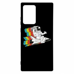 Чохол для Samsung Note 20 Ultra Astronaut on a rocket with a tape recorder