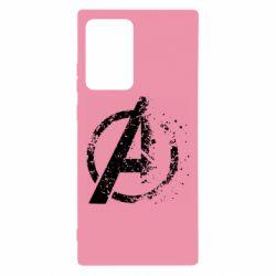 Чехол для Samsung Note 20 Ultra Avengers logotype destruction