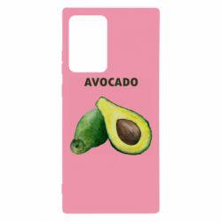 Чехол для Samsung Note 20 Ultra Avocado watercolor