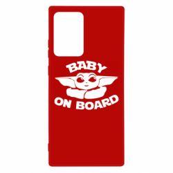 Чехол для Samsung Note 20 Ultra Baby on board yoda