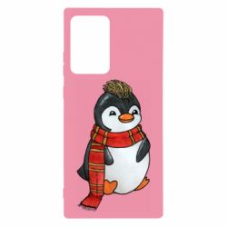 Чохол для Samsung Note 20 Ultra Baby penguin with a scarf