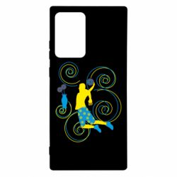 Чохол для Samsung Note 20 Ultra Basketball player and flowers