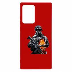 Чехол для Samsung Note 20 Ultra Battlefield Warrior