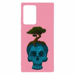 Чохол для Samsung Note 20 Ultra Blue skull low poly and tree