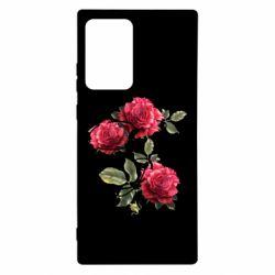 Чехол для Samsung Note 20 Ultra Буква Е с розами