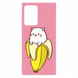 Чехол для Samsung Note 20 Ultra Cat and Banana