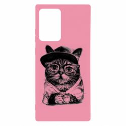 Чохол для Samsung Note 20 Ultra Cat in glasses and a cap