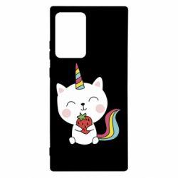 Чохол для Samsung Note 20 Ultra Cat unicorn and strawberries
