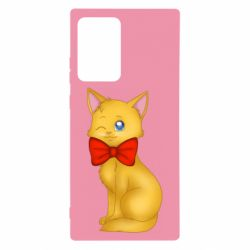 Чохол для Samsung Note 20 Ultra Cat with a bow