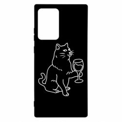Чохол для Samsung Note 20 Ultra Cat with a glass of wine