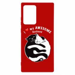Чехол для Samsung Note 20 Ultra Cats and love