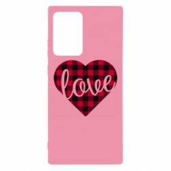 Чехол для Samsung Note 20 Ultra Checkered heart with the inscription Love
