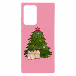 Чехол для Samsung Note 20 Ultra Christmas tree and gifts art