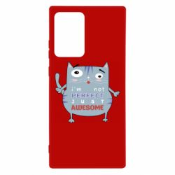 Чехол для Samsung Note 20 Ultra Cute cat and text
