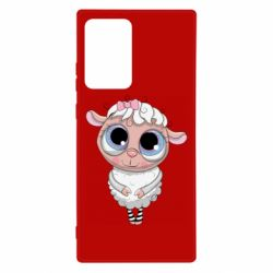 Чехол для Samsung Note 20 Ultra Cute lamb with big eyes