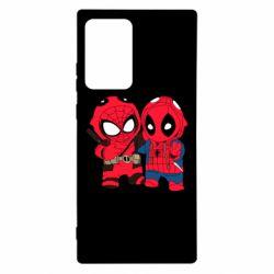 Чехол для Samsung Note 20 Ultra Дэдпул и Человек паук