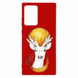 Чехол для Samsung Note 20 Ultra Deer and moon