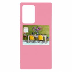 Чохол для Samsung Note 20 Ultra Dining table with flowers