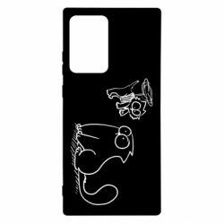 Чохол для Samsung Note 20 Ultra Два кота