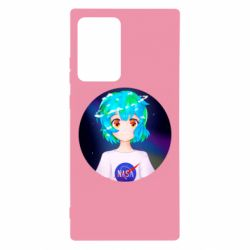 Чохол для Samsung Note 20 Ultra Earth-chan in a T-shirt with a Nasa logo