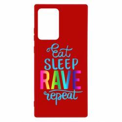 Чохол для Samsung Note 20 Ultra Eat, sleep, RAVE, repeat