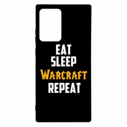 Чехол для Samsung Note 20 Ultra Eat sleep Warcraft repeat