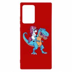 Чохол для Samsung Note 20 Ultra Єдиноріг і динозавр
