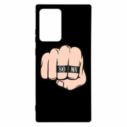 Чехол для Samsung Note 20 Ultra Fist with rings SONS