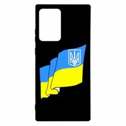 Чехол для Samsung Note 20 Ultra Флаг Украины с Гербом