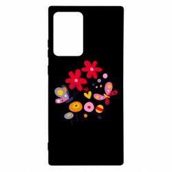 Чехол для Samsung Note 20 Ultra Flowers and Butterflies