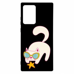 Чехол для Samsung Note 20 Ultra Funny cat with star