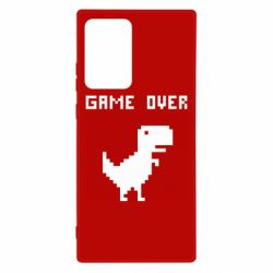 Чехол для Samsung Note 20 Ultra Game over dino from browser