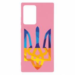 Чехол для Samsung Note 20 Ultra Герб из ломанных линий