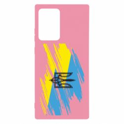 Чехол для Samsung Note 20 Ultra Герб на рваному прапорі