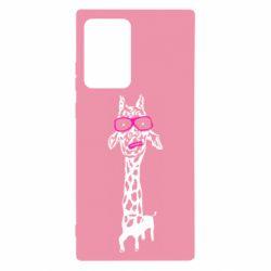 Чохол для Samsung Note 20 Ultra Giraffe in pink glasses