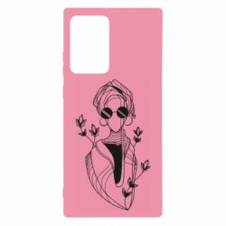 Чехол для Samsung Note 20 Ultra Girl in flowers and glasses