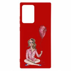 Чехол для Samsung Note 20 Ultra Girl in pajamas holding an airy heart