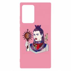 Чехол для Samsung Note 20 Ultra Girl with a crown and a flower on a beard