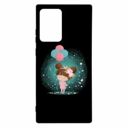 Чехол для Samsung Note 20 Ultra Girl with balloons